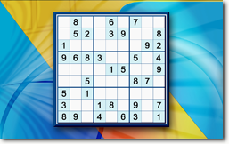 Sudoku Up 2018 - Abstract Blue theme