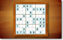 Sudoku Up 2014 - Cherry Wood theme