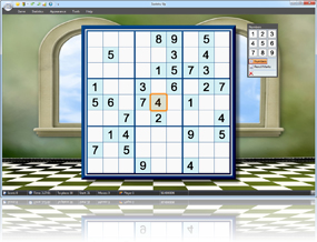 Sudoku Up 2010 - Palace Room with Checkered Floor background screenshot