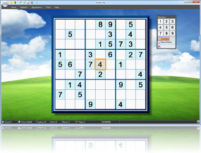 Sudoku Up 2010 - Sky and Meadow background screenshot