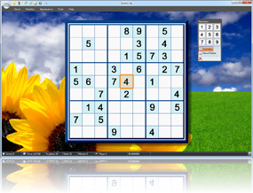 Sudoku Up 2010 -Sunflowers and Sky background screenshot