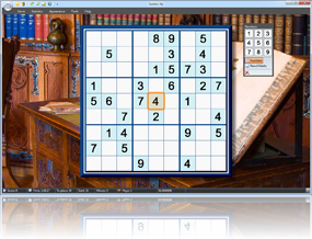 Sudoku Up 2010 - The Library background screenshot