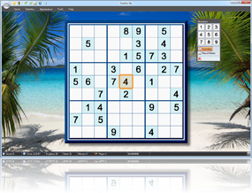 Sudoku Up 2010 - Tropical Dream Beach background screenshot