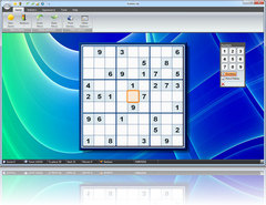 Sudoku Up 2010 - Blue Curves Background screenshot