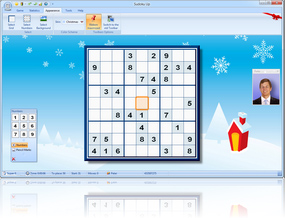 Sudoku Up 2010 Christmas Skin screenshot