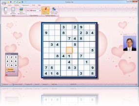 Sudoku Up 2010 Hearts Skin screenshot
