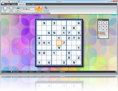 Sudoku Up 2010 - Hologram Squares Background screenshot