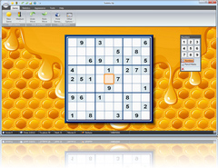 Sudoku Up 2010 - Honey Flowing Background screenshot
