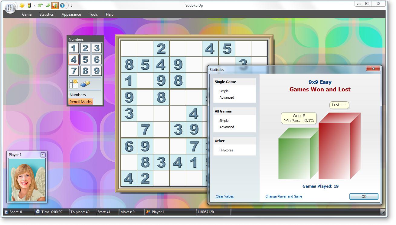Sudoku Up - Layout - Statistics screenshot