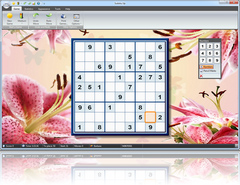 Sudoku Up 2010 - Summer Lilies Background screenshot