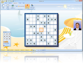 Sudoku Up 2010 Summertime Skin screenshot