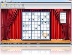 Sudoku Up 2010 - Theatre Curtains Background screenshot